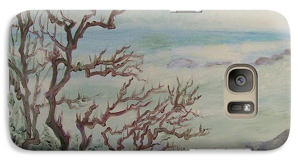 Galaxy Case featuring the painting 1 When Time Stands Still by Beth Arroyo