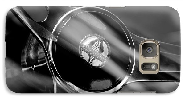 1965 Ford Mustang Cobra Emblem Steering Wheel Galaxy S7 Case by Jill Reger