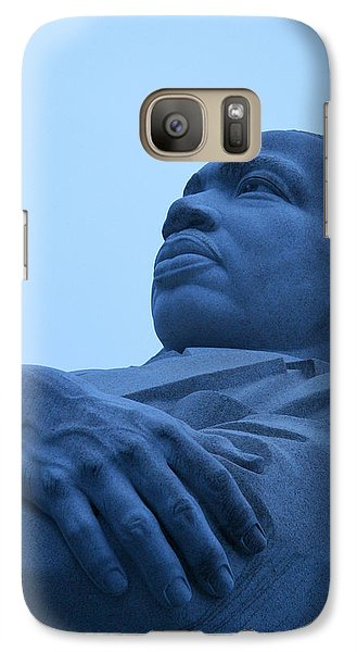 Galaxy Case featuring the photograph A Blue Martin Luther King - 1 by Cora Wandel