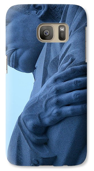 Galaxy Case featuring the photograph A Blue Martin Luther King - 2 by Cora Wandel