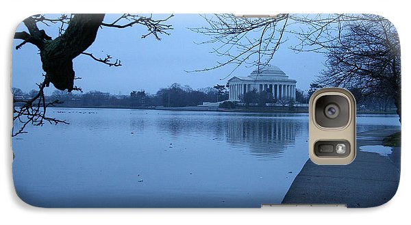 Galaxy Case featuring the photograph A Blue Morning For Jefferson by Cora Wandel