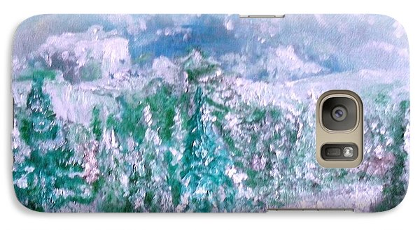 Galaxy Case featuring the painting A Natural Christmas by Laurie L
