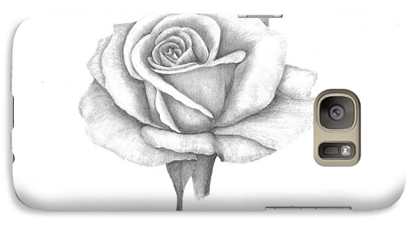 Galaxy Case featuring the drawing A Roses Beauty by Patricia Hiltz