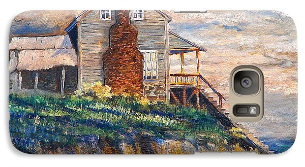 Galaxy Case featuring the painting Abandoned Beach House by Dan Redmon