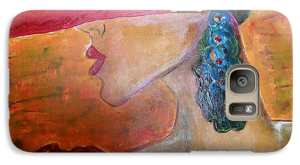 Galaxy Case featuring the painting Abby Marion by Iris Gelbart