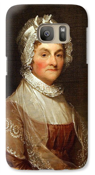 Galaxy Case featuring the photograph Abigail Smith Adams By Gilbert Stuart by Cora Wandel