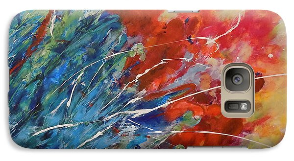 Galaxy Case featuring the painting Abstract by Ellen Anthony