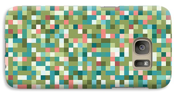 Galaxy Case featuring the digital art Abstract Pixels by Mike Taylor