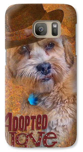Galaxy Case featuring the digital art Adopted With Love by Kathy Tarochione