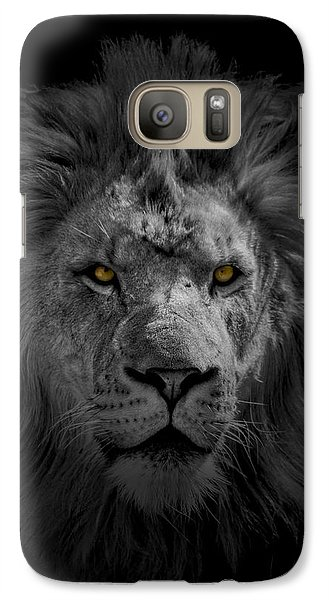 Galaxy Case featuring the photograph African Lion by Peter Lakomy