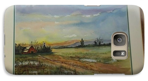 Galaxy Case featuring the painting After The Rain Storm by Richard Benson