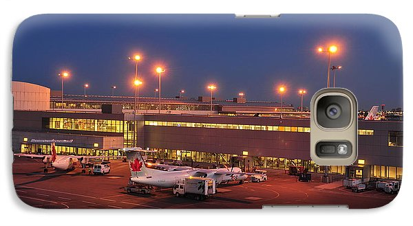Galaxy Case featuring the photograph air Canada  by Puzzles Shum