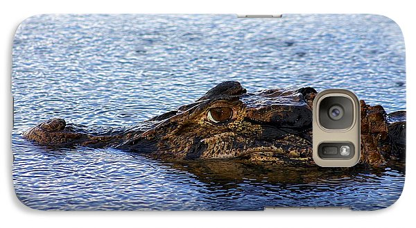 Galaxy Case featuring the photograph Amazon Alligator by Henry Kowalski