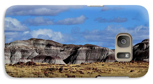 Galaxy Case featuring the photograph Amber Waves Of Grain And Purple Mountains by Nadalyn Larsen