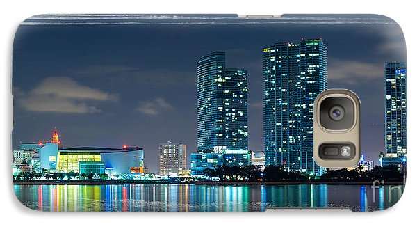 Galaxy Case featuring the photograph American Airlines Arena And Condominiums by Carsten Reisinger