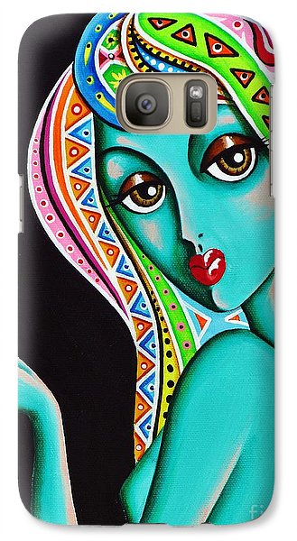 Galaxy Case featuring the painting Amitty Groovy Chick Series Detail by Joseph Sonday