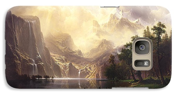 Galaxy Case featuring the painting Among The Sierra Nevada Mountains California by Albert Bierstadt