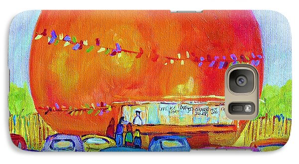 Galaxy Case featuring the painting Antique Cars At The Julep by Carole Spandau