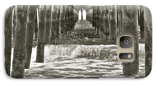 Galaxy Case featuring the photograph Apache Pier B/w by Eve Spring