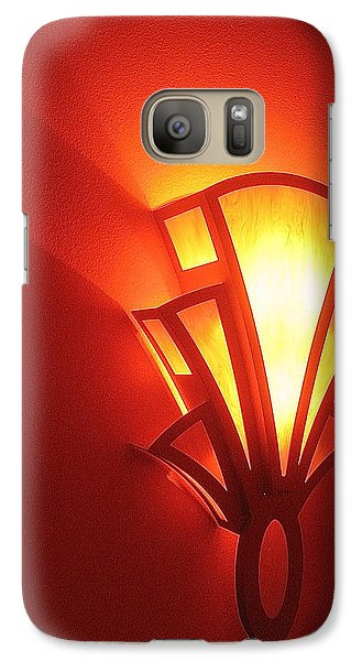 Galaxy Case featuring the photograph Art Deco Theater Light by David Lee Guss