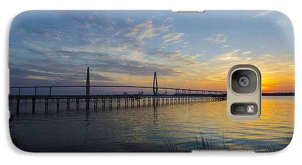 Galaxy Case featuring the photograph Sunset Over The Charleston Waters by Dale Powell