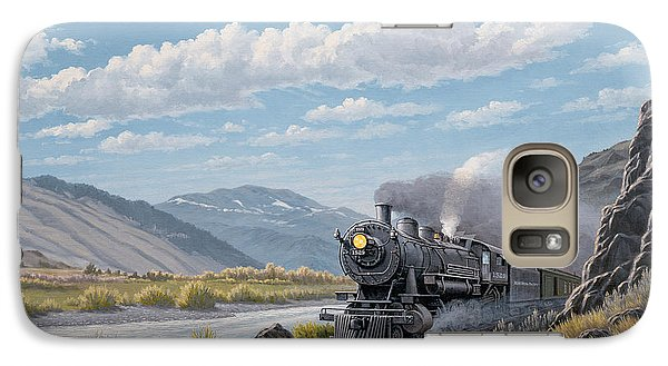 Train Galaxy S7 Case - At Point Of Rocks-bound For Livingston by Paul Krapf