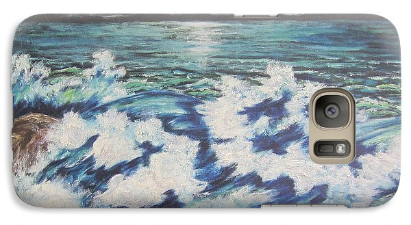 Galaxy Case featuring the painting At The Edge by Cheryl Pettigrew
