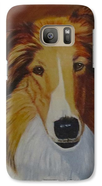 Galaxy Case featuring the painting Atticus by Sharon Schultz