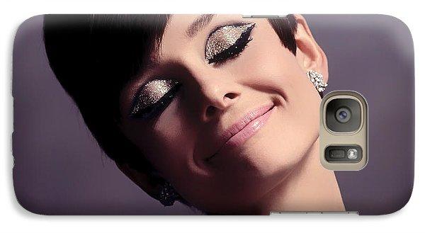 Audrey Hepburn Galaxy Case by Mountain Dreams