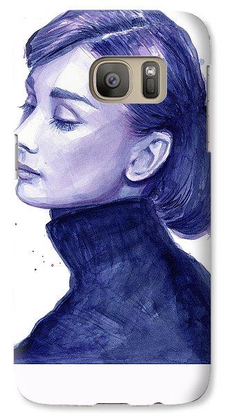 Audrey Hepburn Portrait Galaxy S7 Case