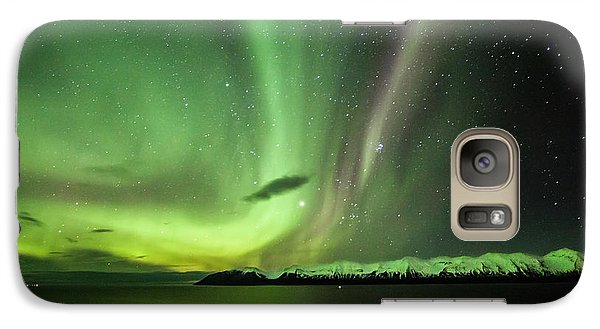 Galaxy Case featuring the photograph Aurora Borealis by Frodi Brinks