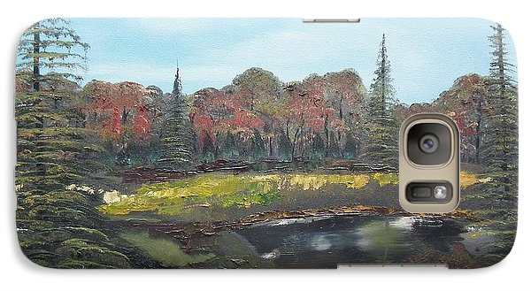Galaxy Case featuring the painting Autumn Landscape by Jan Dappen