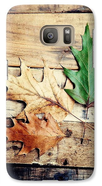 Galaxy Case featuring the photograph Autumn Leaves Ablaze With Color by Kim Fearheiley