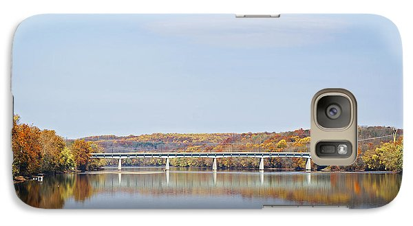 Galaxy Case featuring the photograph Autumn On The Delaware by Elsa Marie Santoro