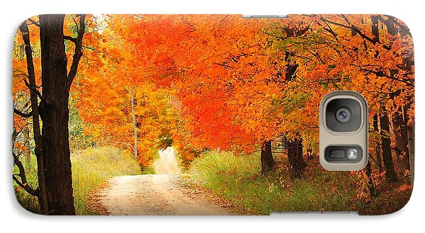 Galaxy Case featuring the photograph Autumn Trail by Terri Gostola