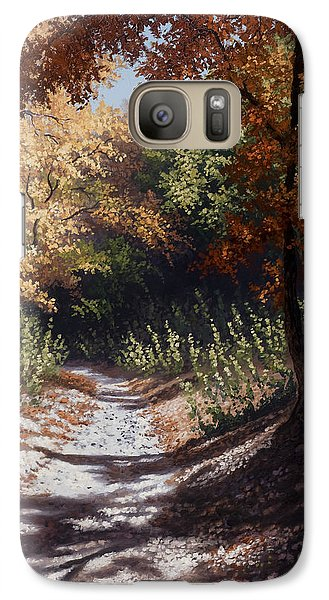 Galaxy Case featuring the painting Autumn Trails by Kyle Wood