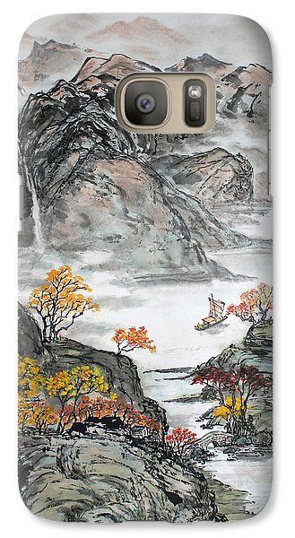 Galaxy Case featuring the painting Autumn  by Yufeng Wang