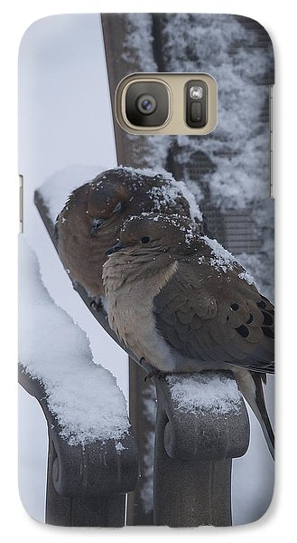 Galaxy Case featuring the photograph Baby It's Cold Outside 2 by Phil Abrams