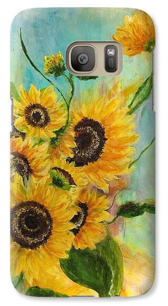Galaxy Case featuring the painting Back To The Cosmos by France Laliberte