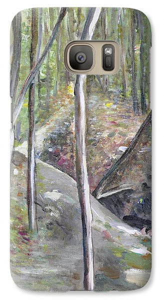 Galaxy Case featuring the painting Backyard At Sussex 3 by Dottie Branchreeves