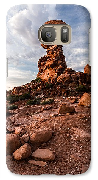 Galaxy Case featuring the photograph Balanced Rock by Jay Stockhaus
