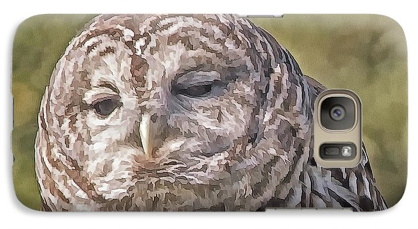 Galaxy Case featuring the photograph Barred Hoot Owl Photo Art by Constantine Gregory