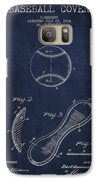 Softball Galaxy S7 Case - Baseball Cover Patent Drawing From 1924 by Aged Pixel