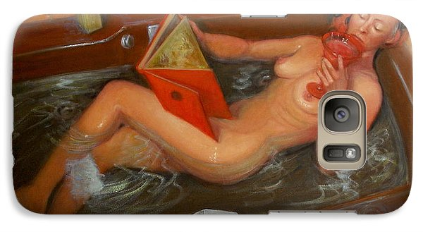 Galaxy Case featuring the painting Bath #4 by Donelli  DiMaria