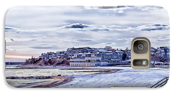 Galaxy Case featuring the photograph Beach In Winter Photo Art by Constantine Gregory