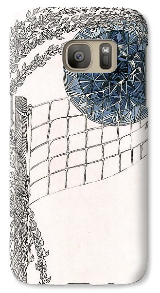 Galaxy Case featuring the drawing Beach Volleyball by Dianne Levy