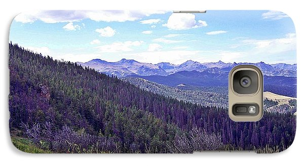 Galaxy Case featuring the photograph Bear Tooth Range by Christian Mattison
