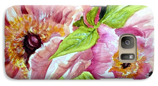 Galaxy Case featuring the painting Beauty In Pink by Carol Grimes