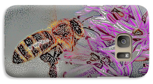 Galaxy Case featuring the digital art Bee  by Kathleen Stephens