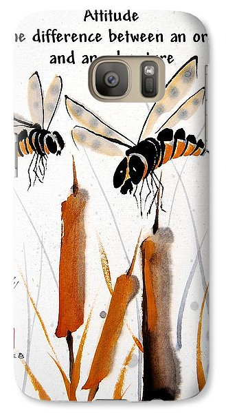 Galaxy Case featuring the painting Beeing Present by Bill Searle
